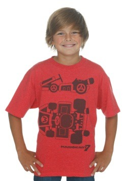 Mario Kart 8 Kart Diagram Boys T-Shirt
