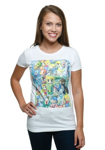 Legend Of Zelda Wind Waker Cast Women's T-Shirt