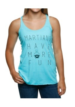 Looney Tunes Martians Have Fun Juniors Racerback Tank