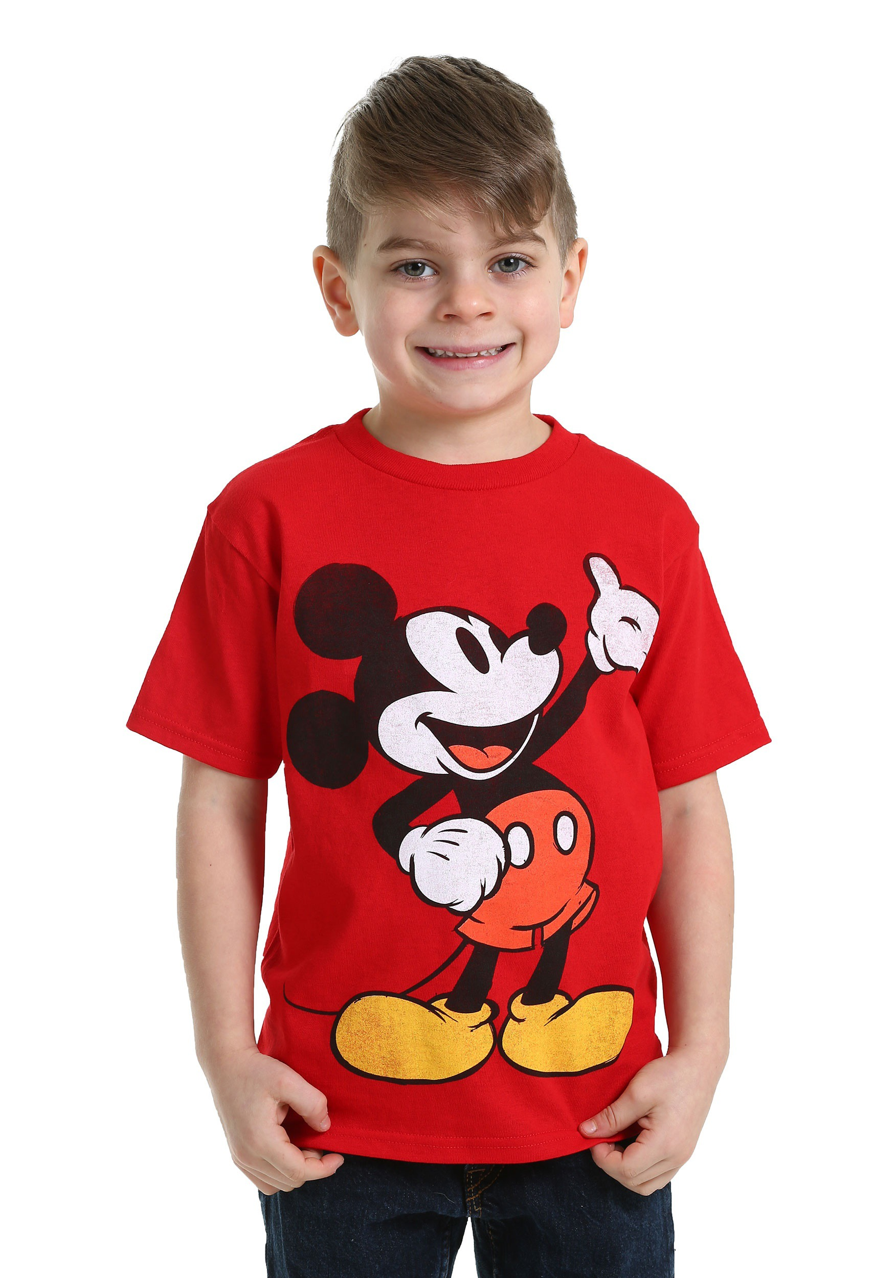 Mickey Mouse Red T Shirt For Boys