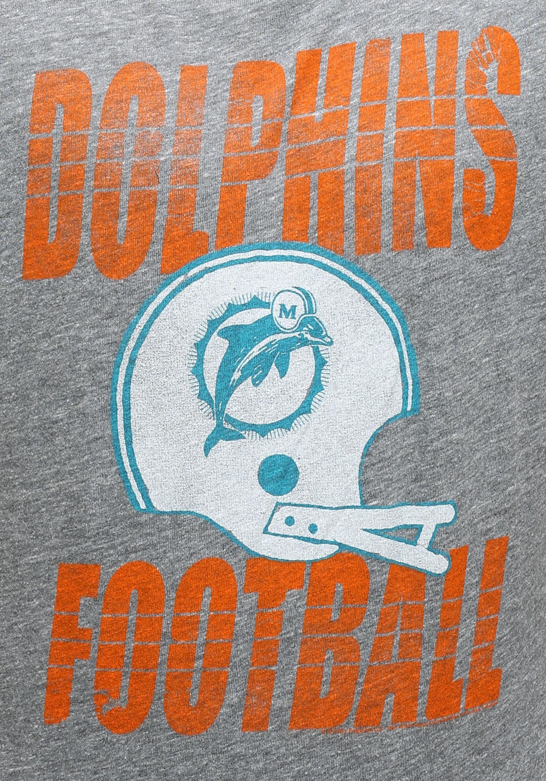 fe397296 Miami Dolphins Touchdown Tri-Blend T-Shirt