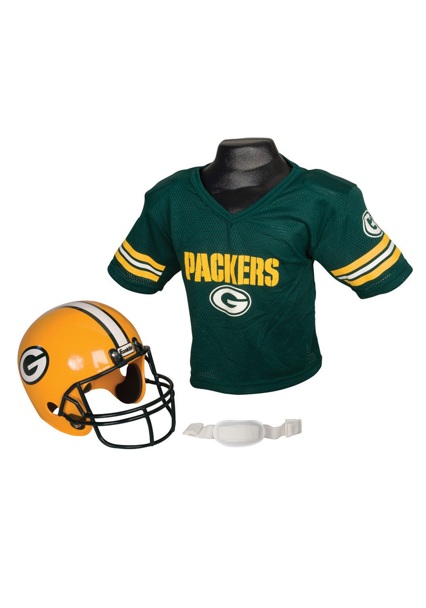 on sale a610e 35b4a Child NFL Green Bay Packers Helmet and Jersey Costume Set