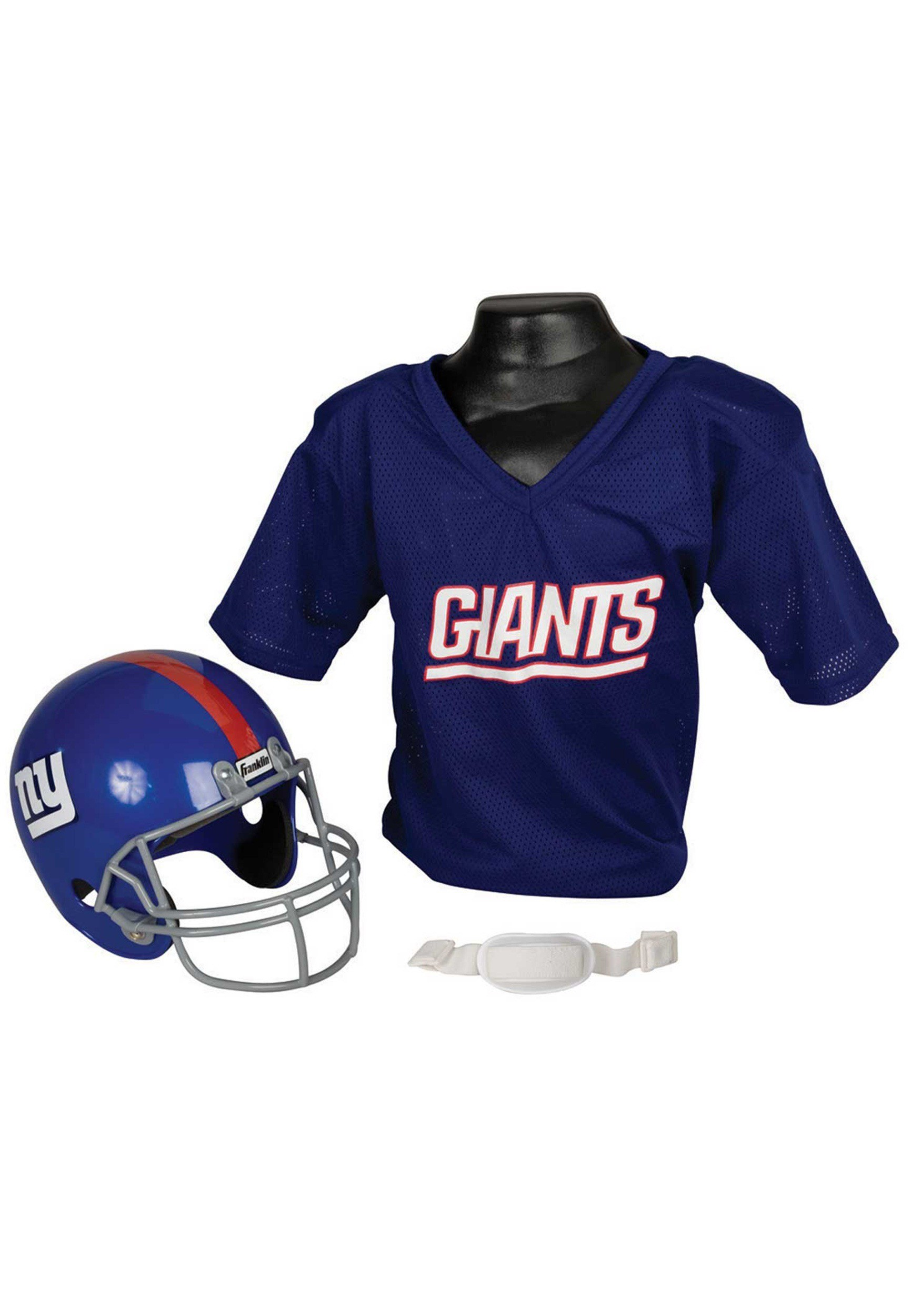 Child NFL New York Giants Helmet and Jersey Costume Set