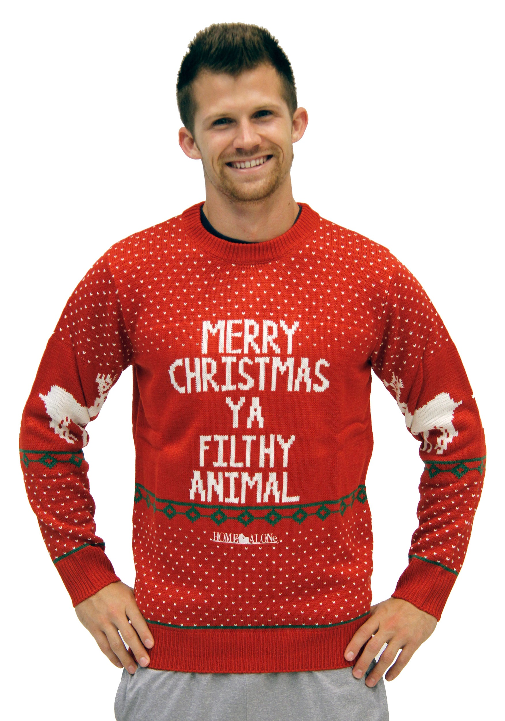 Home Alone Red Ya Filthy Animal Ugly Christmas Sweater CTUCS001
