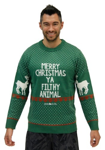 Home Alone Green Ya Filthy Animal Ugly Christmas Sweater