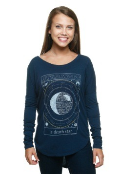 Women's Star Wars Le Death Star Hi Low Long-Sleeved T-Shirt