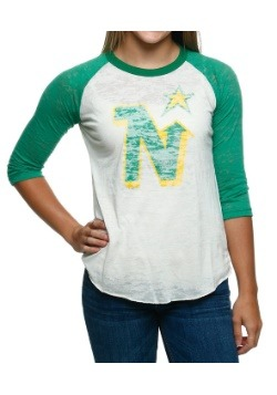 North Stars Retro Logo Juniors Raglan Shirt