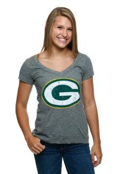 Green Bay Packers Juniors V-Neck T-Shirt