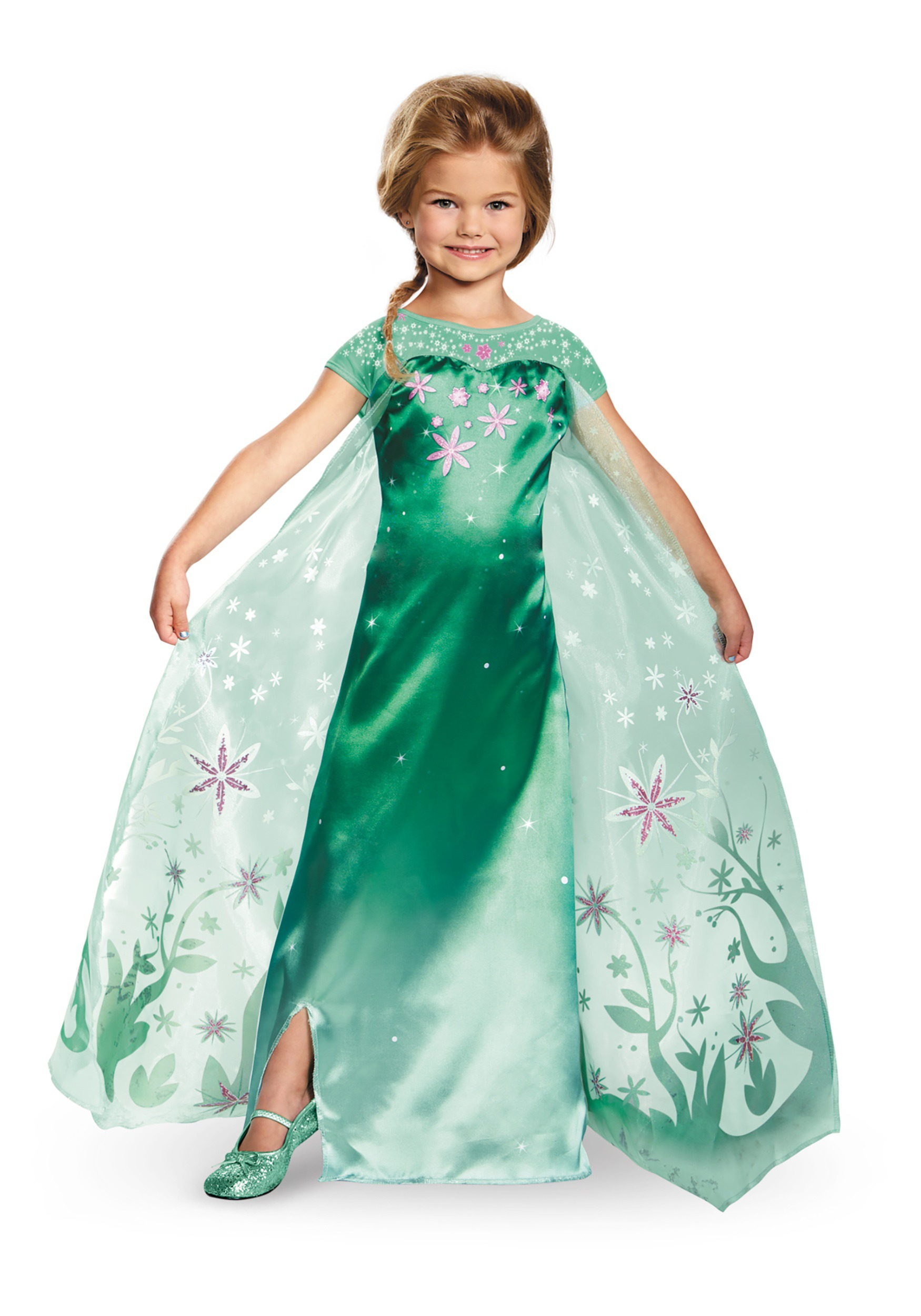 Deluxe Frozen Fever Elsa Costume For kids