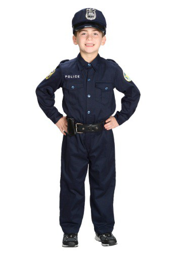 Deluxe Police Officer Costume For Boys