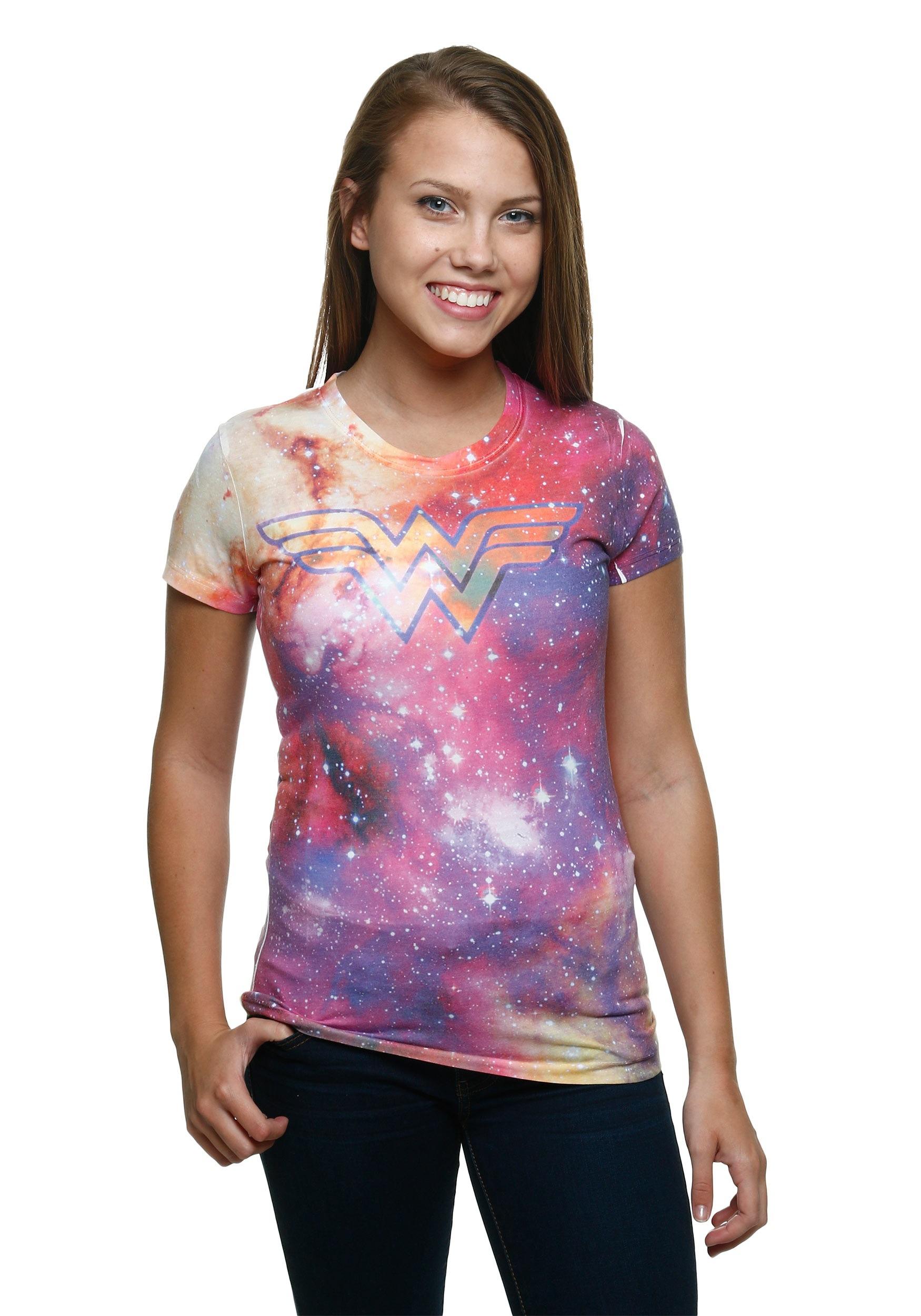Wonder Woman Galaxy Sublimé Juniors T-shirt-2080