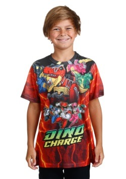 Boys Power Rangers Zord Power Sublimated T-Shirt