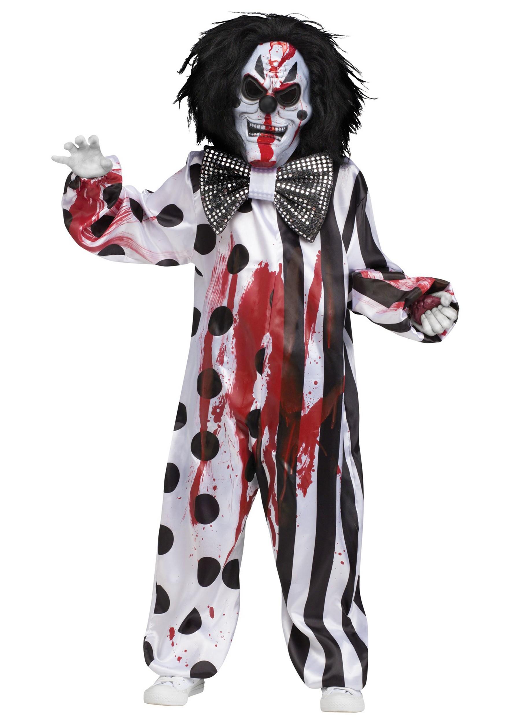 Child Bleeding Killer Clown Costume  sc 1 st  Fun.com & Bleeding Killer Clown Costume