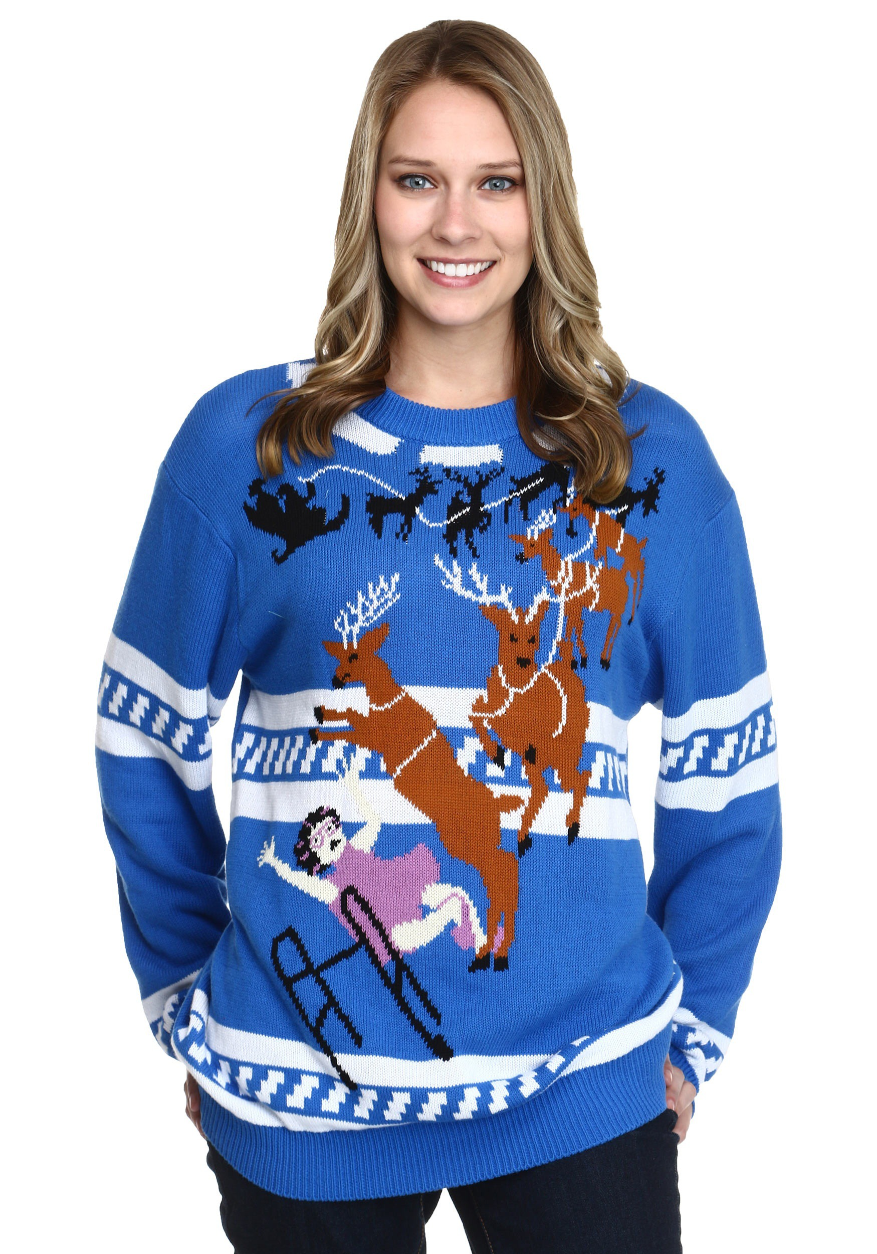 Plus Size Ugly Christmas Sweater.Granny Got Run Over By A Reindeer Ugly Christmas Sweater