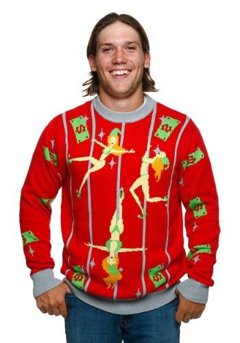 Fun.com - Pole Dancing Elves Ugly Christmas Sweater Photo