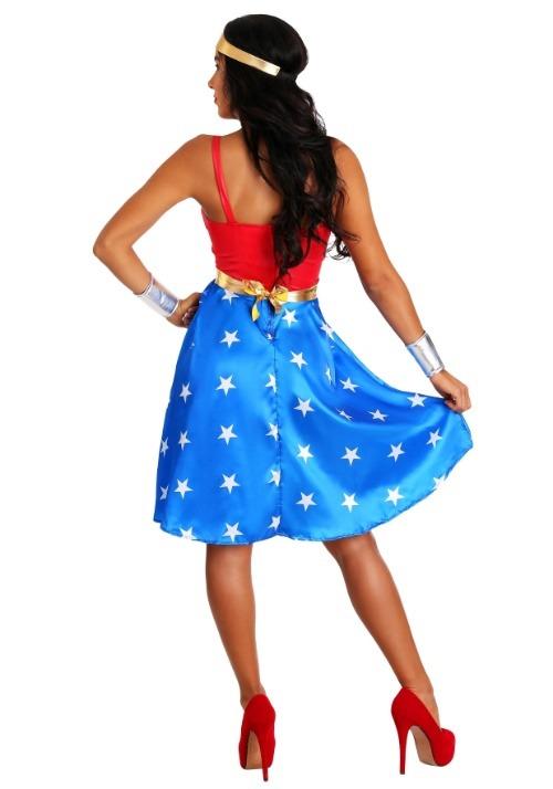 Deluxe Long Dress Wonder Woman Plus Size Costume