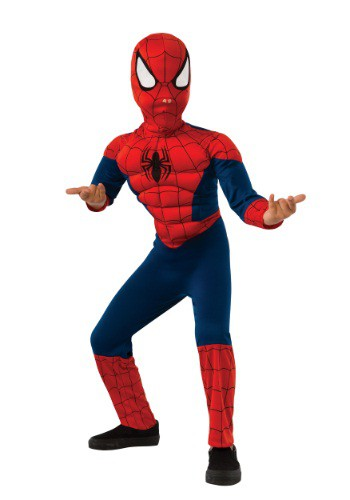 Ultimate Spider-Man Muscle Chest Costume for Boys RU620010-L