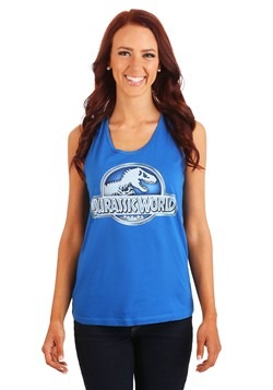Jurassic World Logo Juniors Racer-Back Tank