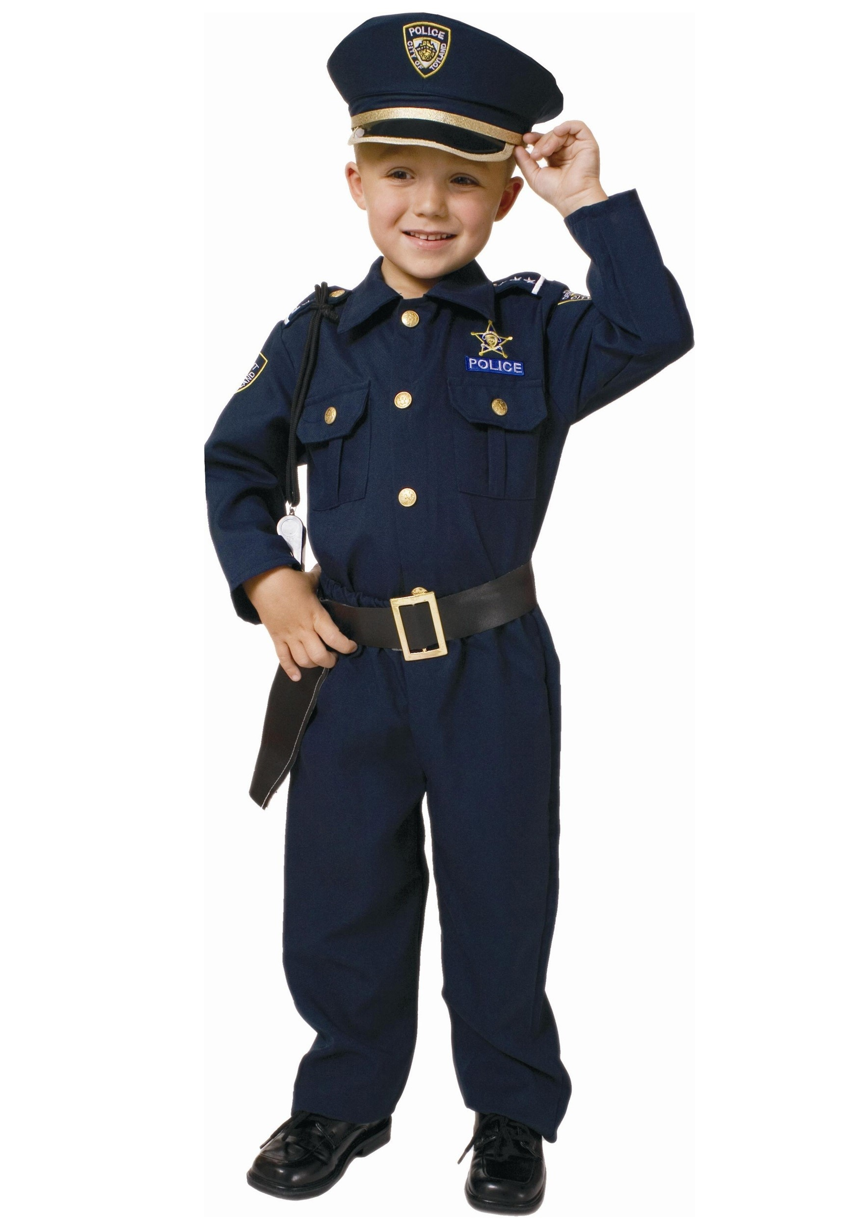 Deluxe Toddler Police Officer Costume