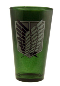 Attack on Titan Badge Pint Glass