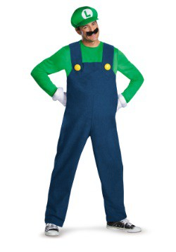 Deluxe Luigi Mens Costume