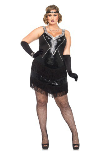 Plus Size Glamour Flapper Costume for Women