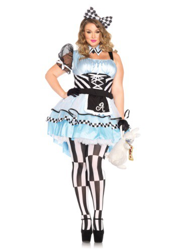 Women's Psychedelic Alice Plus Size Costume