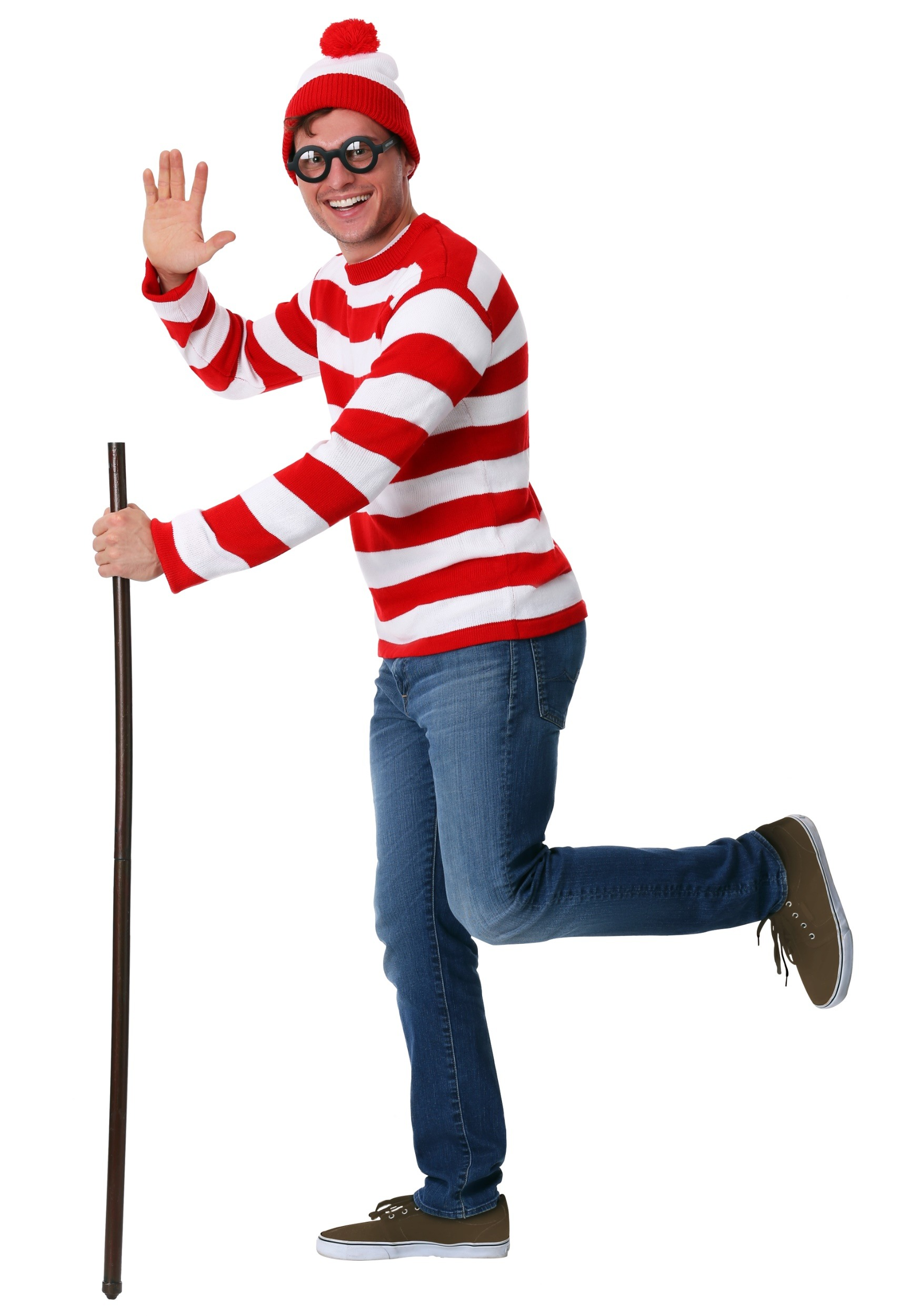 deluxe wheres waldo adult sweater costume2