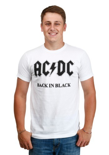 AC/DC Back in Black White Men's T-Shirt