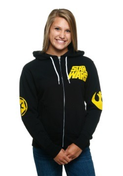 Star Wars Rebel Imperial Juniors Hooded Sweatshirt