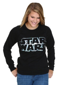 Star Wars Foil Logo Juniors Burnout Sweatshirt