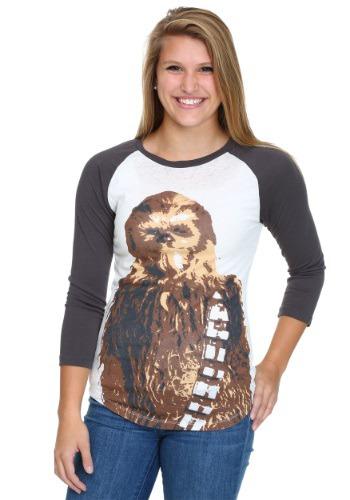 Star Wars Chewie's Illin Stance Juniors Raglan
