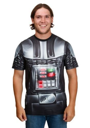 Men's Star Wars Vader Attire White Sublimated T-Shirt