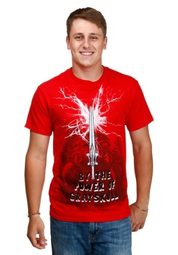 Men's Red Masters Of The Universe The Sword T-Shirt