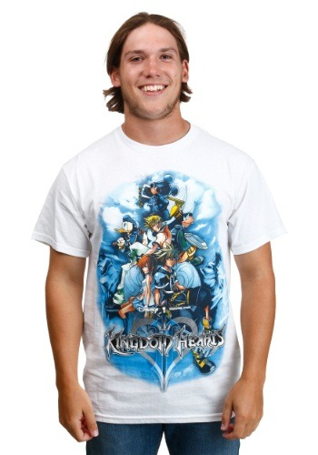 Kingdom Hearts Game On Group White T-Shirt