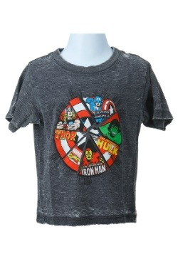 Avengers Power Shield Toddler Boys Charcoal Heathe Shirt
