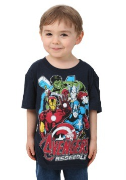 Avengers Assemble Tour Boys Navy T-Shirt