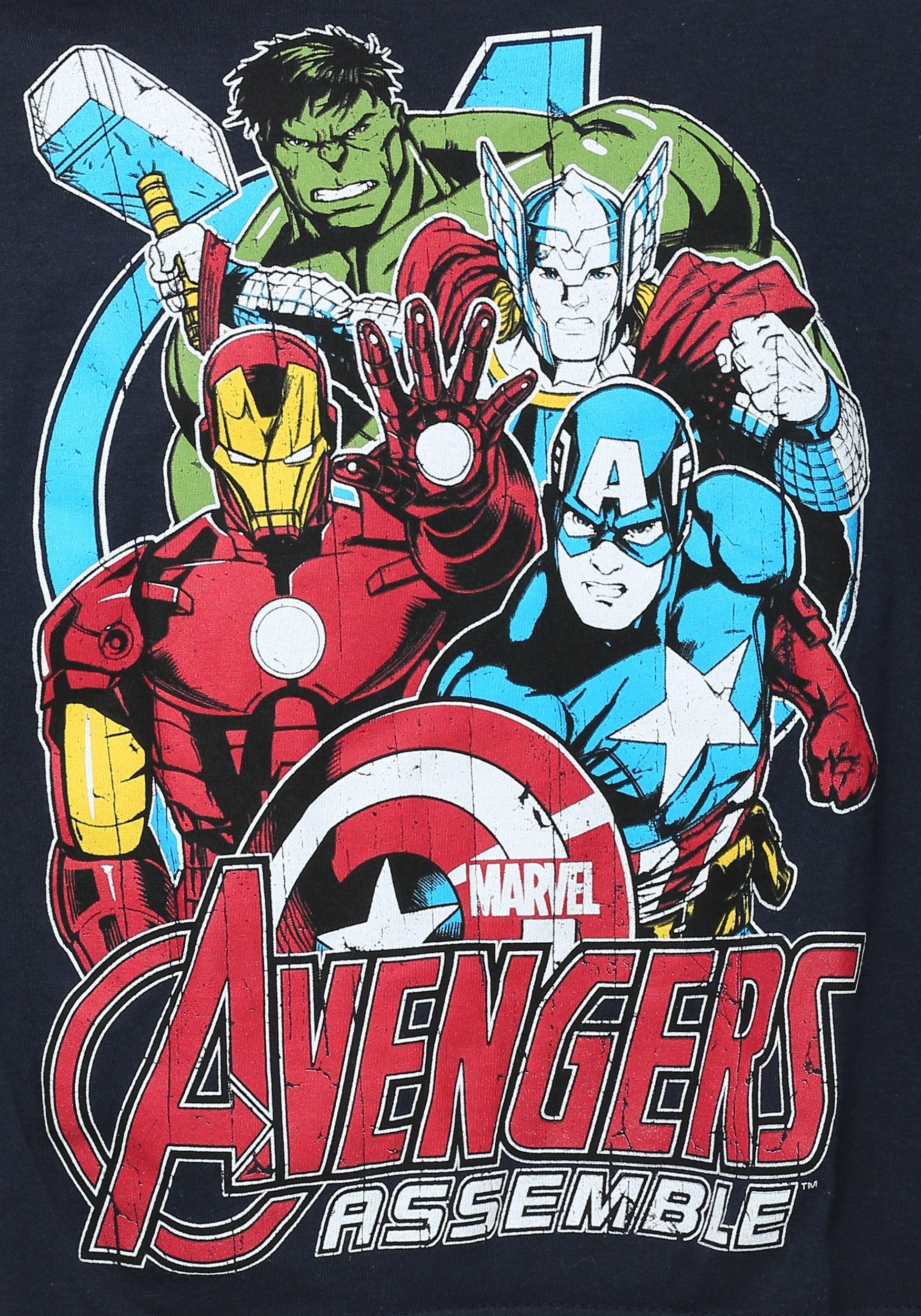 Avengers assemble tour boys navy t shirt for Tour avengers