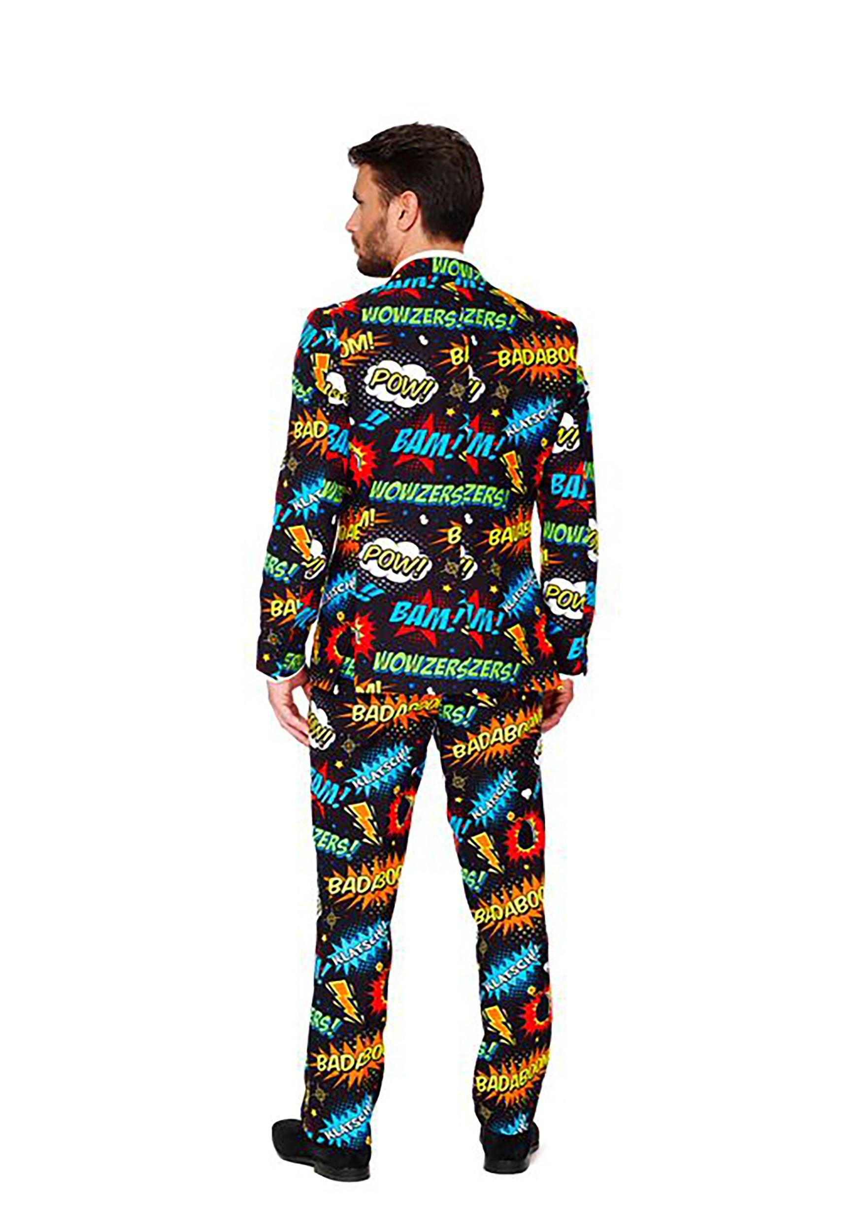 Mens Opposuits Badaboom Comic Suit