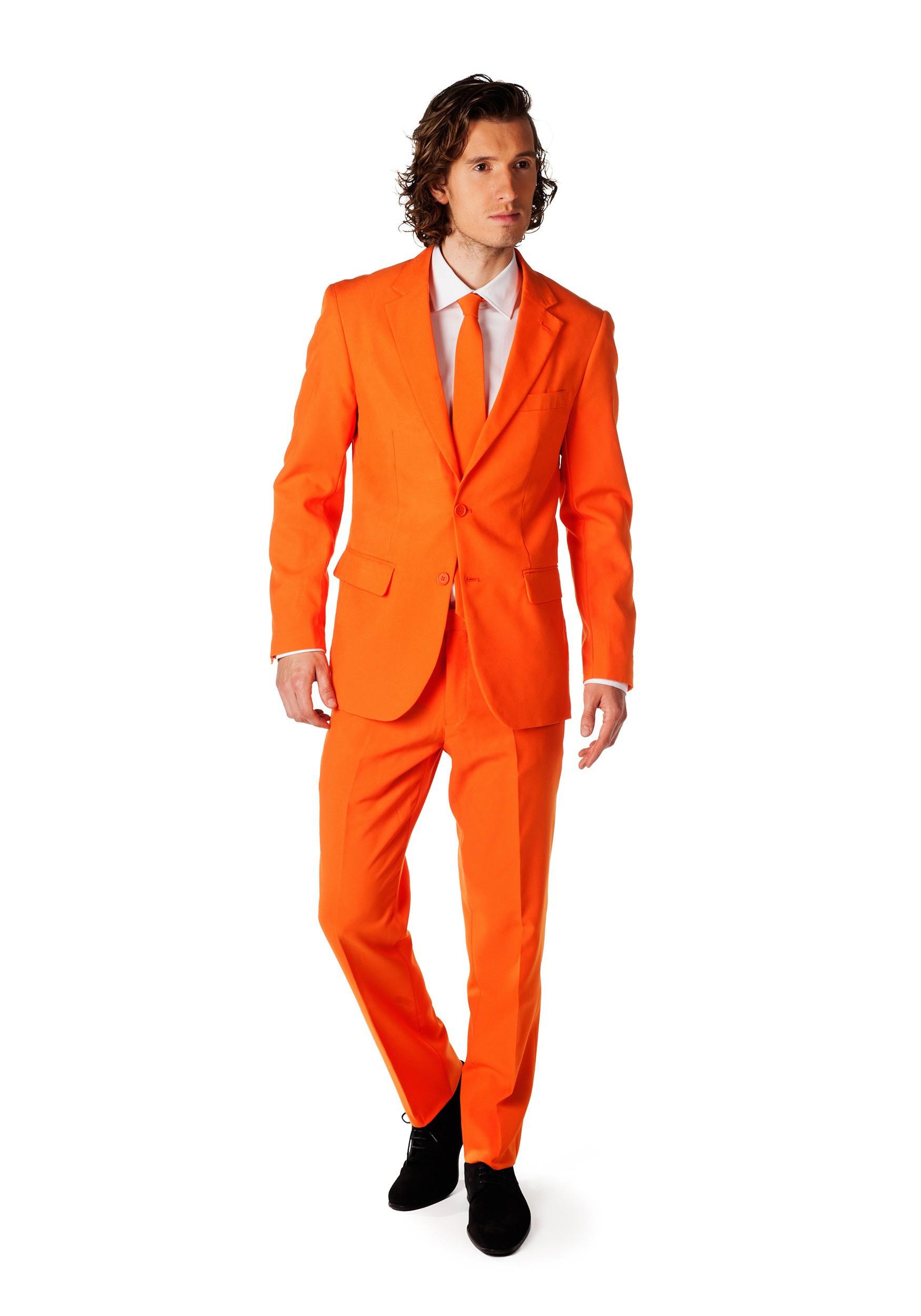 Men Fashion Orange Pant