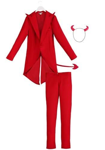 Men's Red Suit Devil Costume