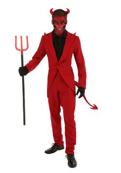 Men's Red Suit Devil Costume-Update