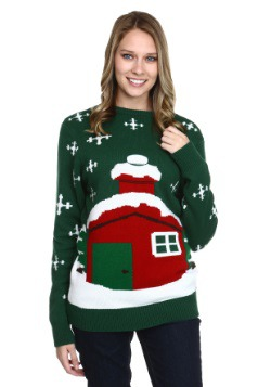 Stuck Santa Christmas Sweater