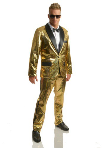 Men's Gold Disco Ball Tuxedo Costume For Men