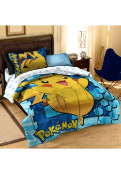 Pokemon Pikachu Twin/Full Comforter with Pillow Case
