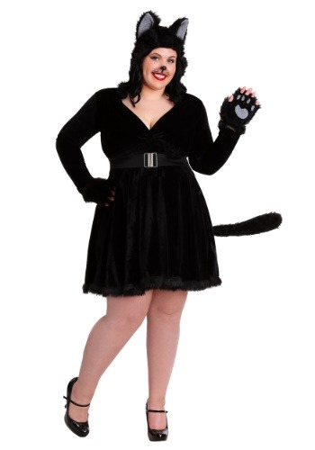 Womens Black Cat Plus Size Costume Update