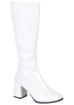 White Gogo Girls Boots