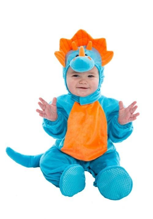 Infant Blue and Orange Dino Costume