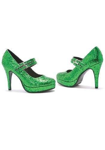 Sparkling Green Glitter Shoes