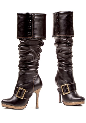 Sexy Buckle Pirate Costume Boots